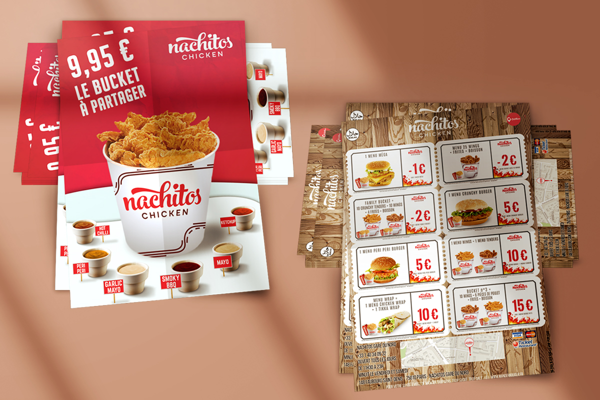 salamo design flyers nachitos chicken