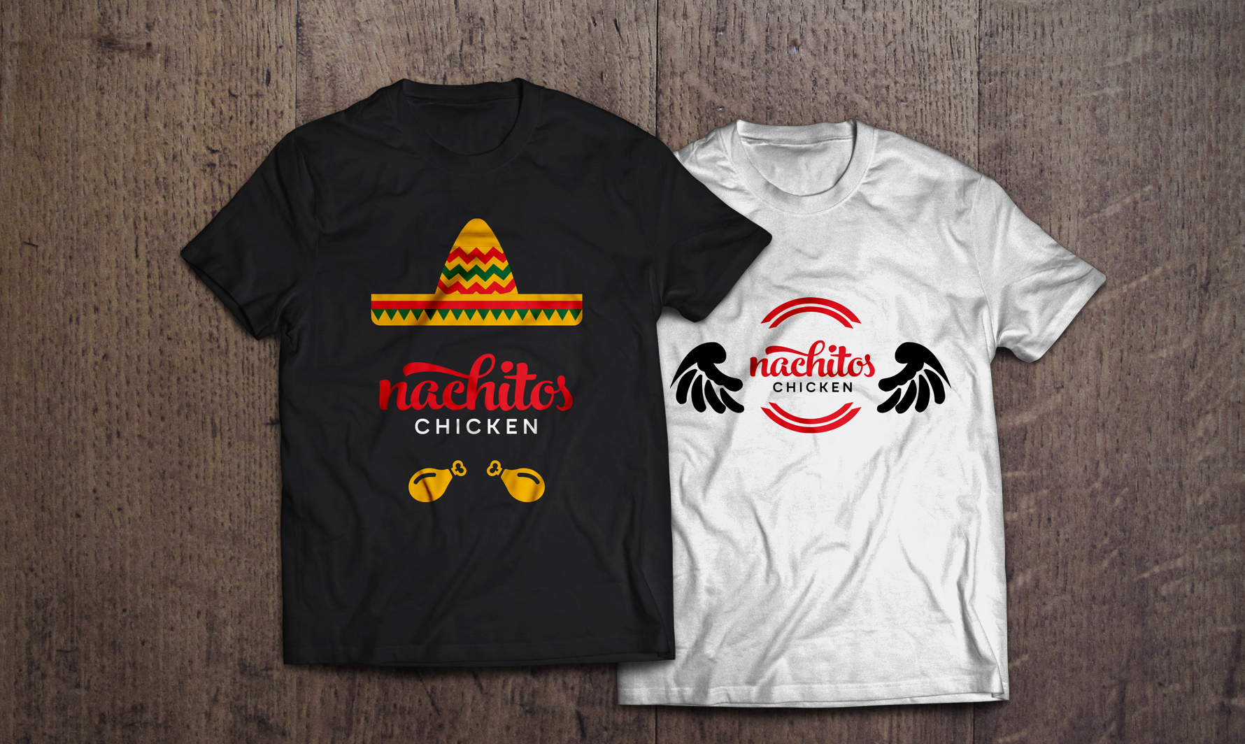 salamo design t-shirt nachitos chicken