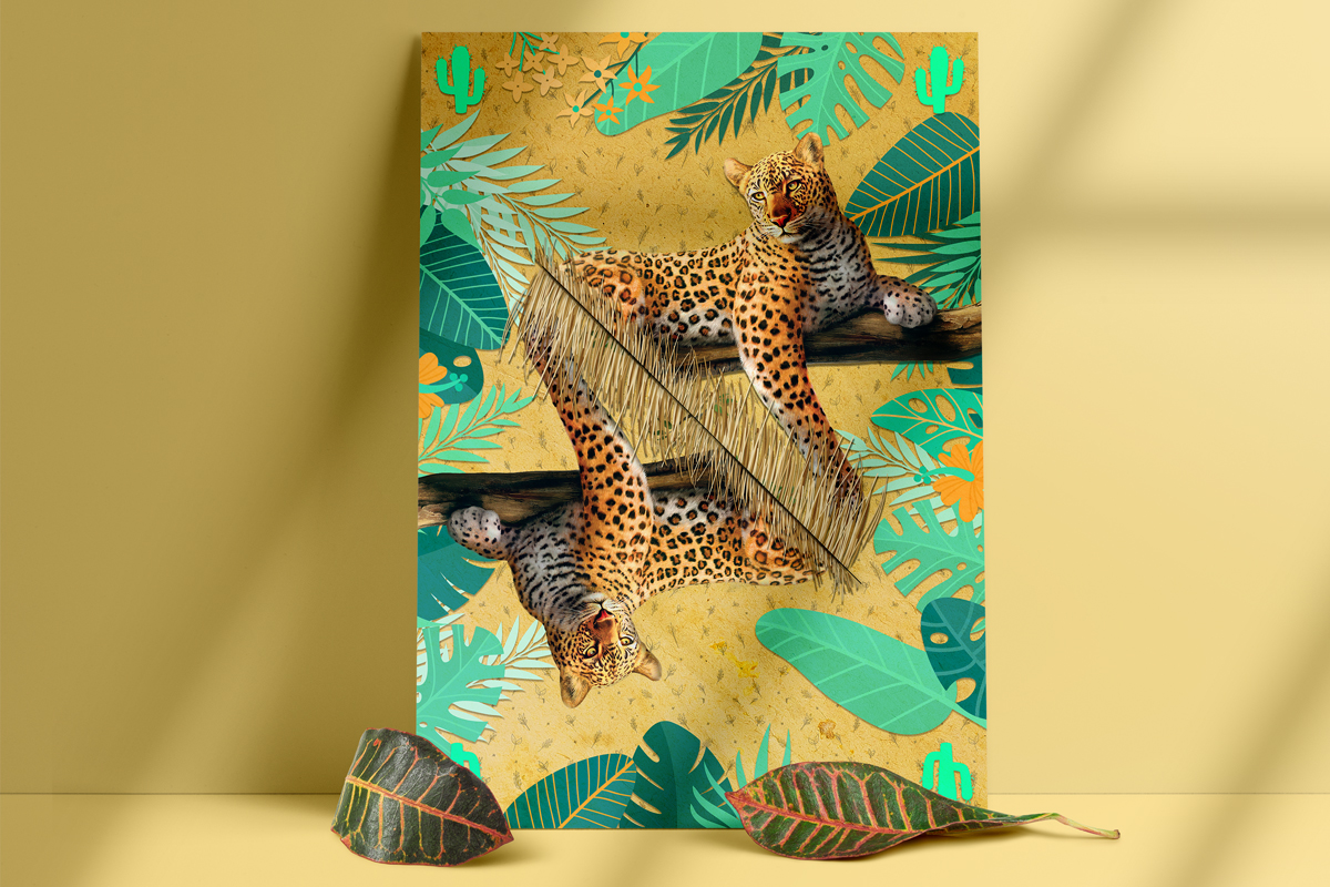 salamo design tropical animal jaguar card roots exhibition