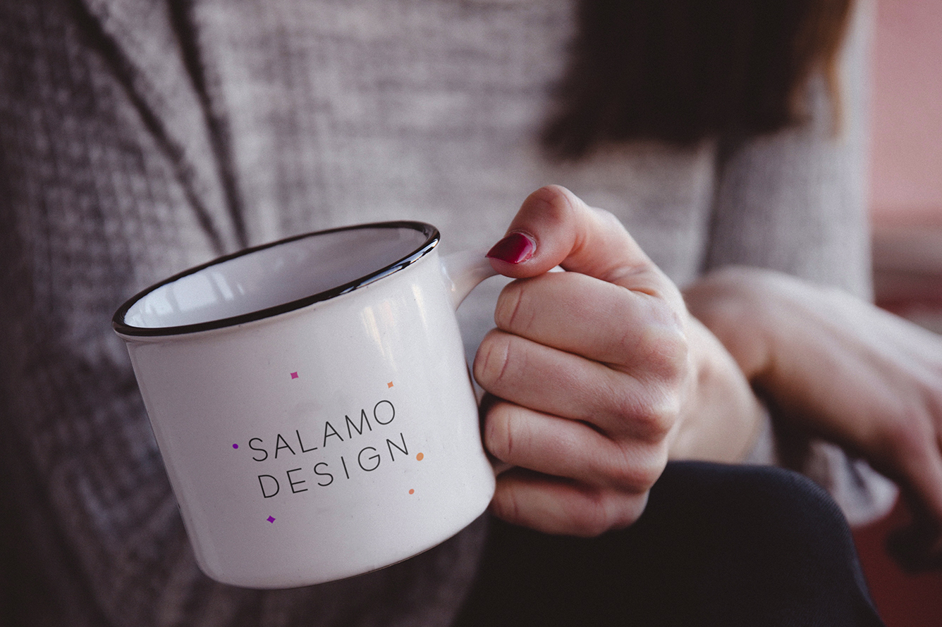 cup of coffee logo salamo desgin