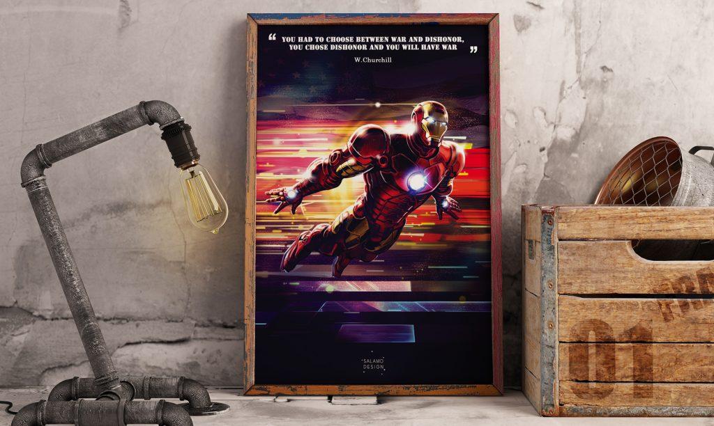 salamo design symboli heroes iron man