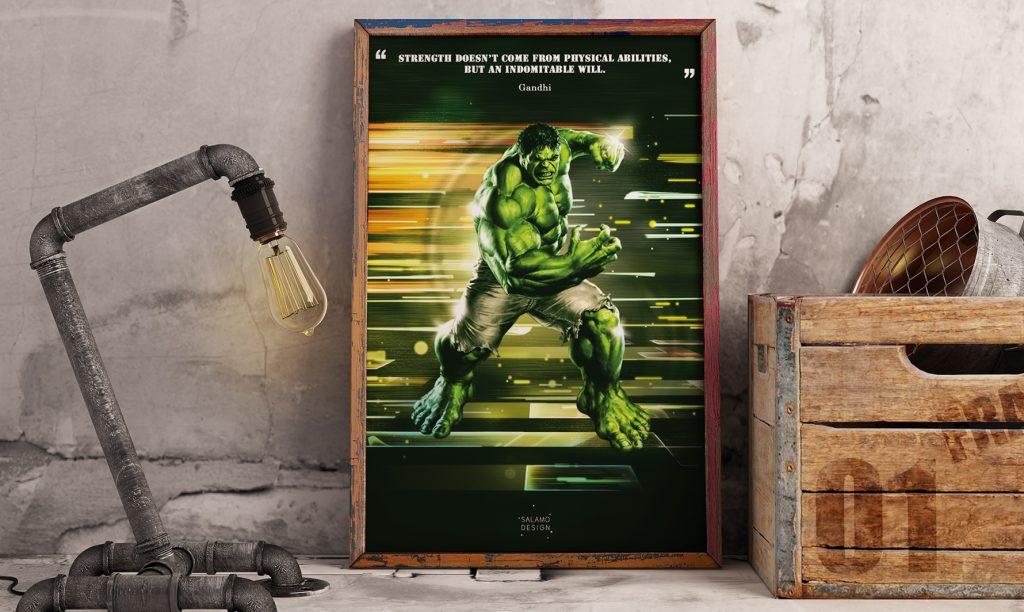 salamo design symboli heroes hulk