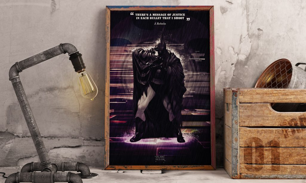 salamo design symboli heroes batman