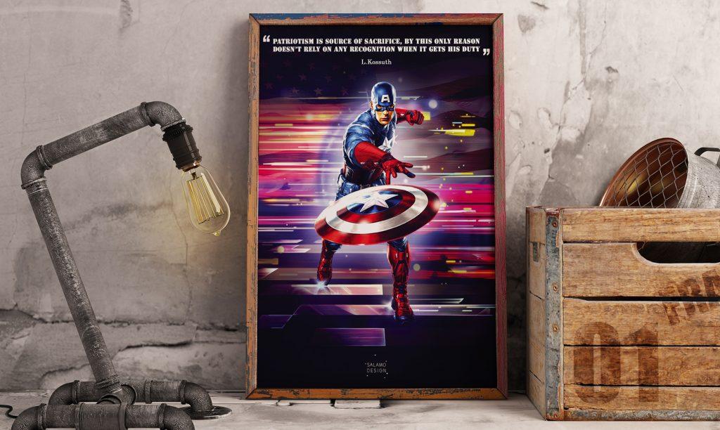 salamo design symboli heroes captain america