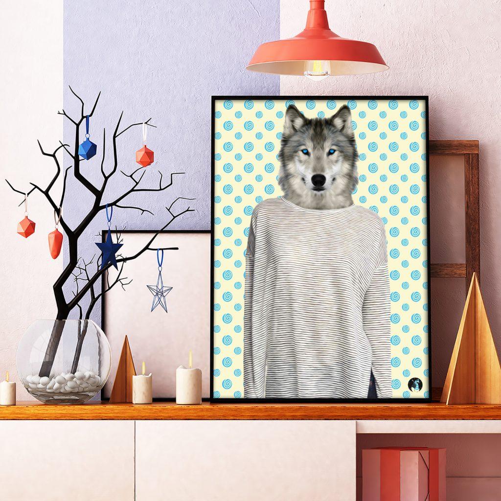 salamo design anim clout loup