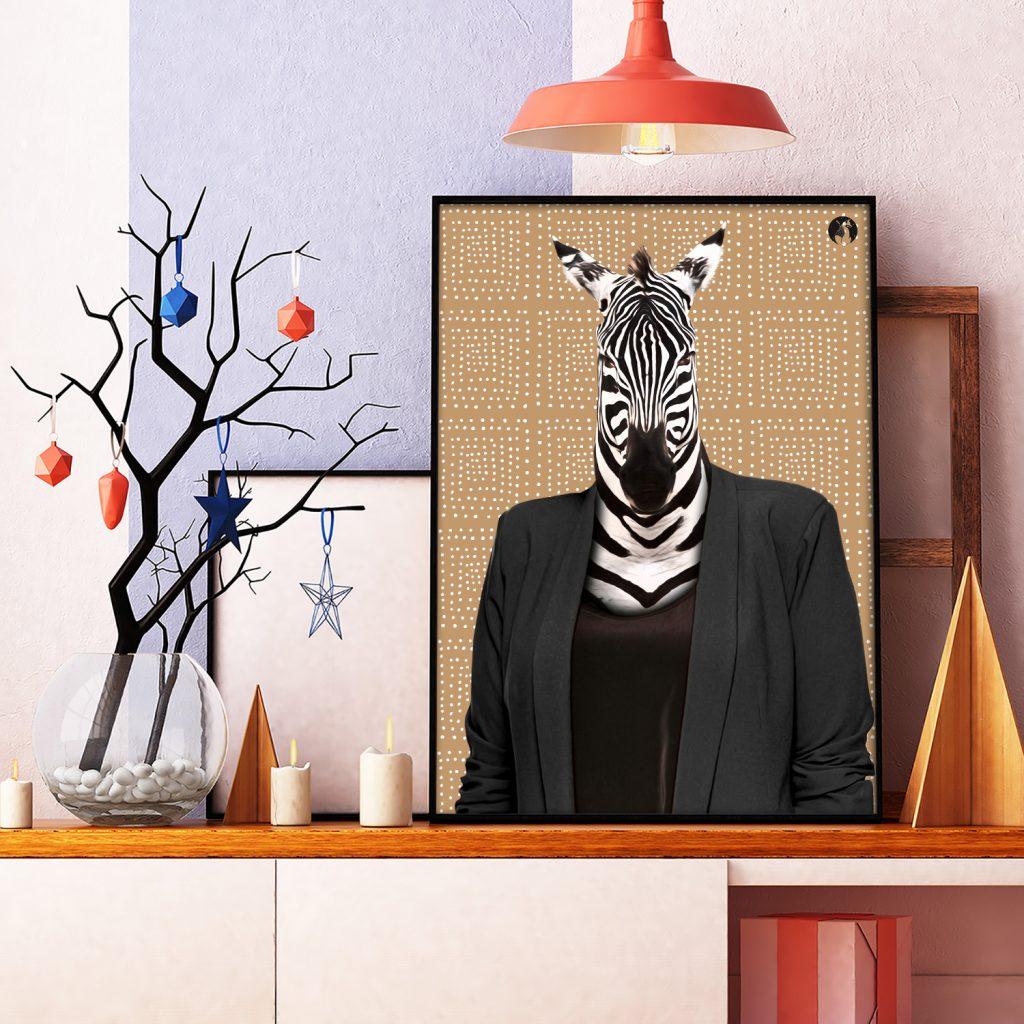 salamo design anim clout zebre